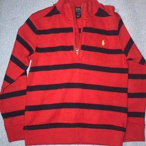 Boys Polo 3/4 Quarter Zip Sweater